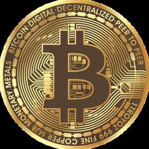 大きなビットコインのイラスト