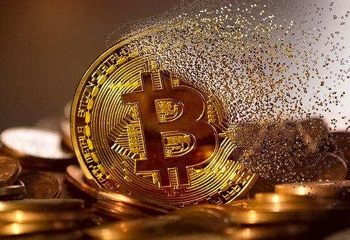 消えていくビットコインのイラスト